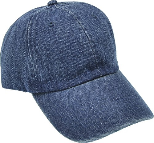 Denim Ball Cap - Hand By Hand Aprileo Denim Cap Dyed Washed Cotton Hat Baseball Ball Cap Polo [02 Dark Denim](One Size)