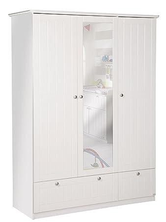 Kleiderschrank weiß mit spiegel  roba 3-türiger Spiegel-Kleiderschrank, Spiegelschrank Dreamworld 3 ...