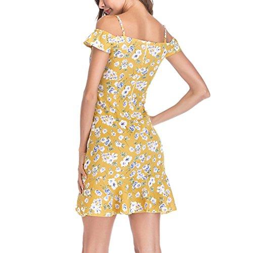 174572b97ff2d9 kingko Damen Sommerkleid Elegant Playsuit Chiffon ärmellos Spitze Romper  Kurz Strandkleid,Ärmellos Strandmode, ...
