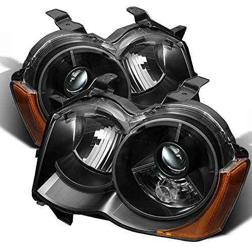 ACANII - For Black 2008 2009 2010 Jeep Grand Cherokee Projector Headlights HID Model Only Driver + Passenger Side