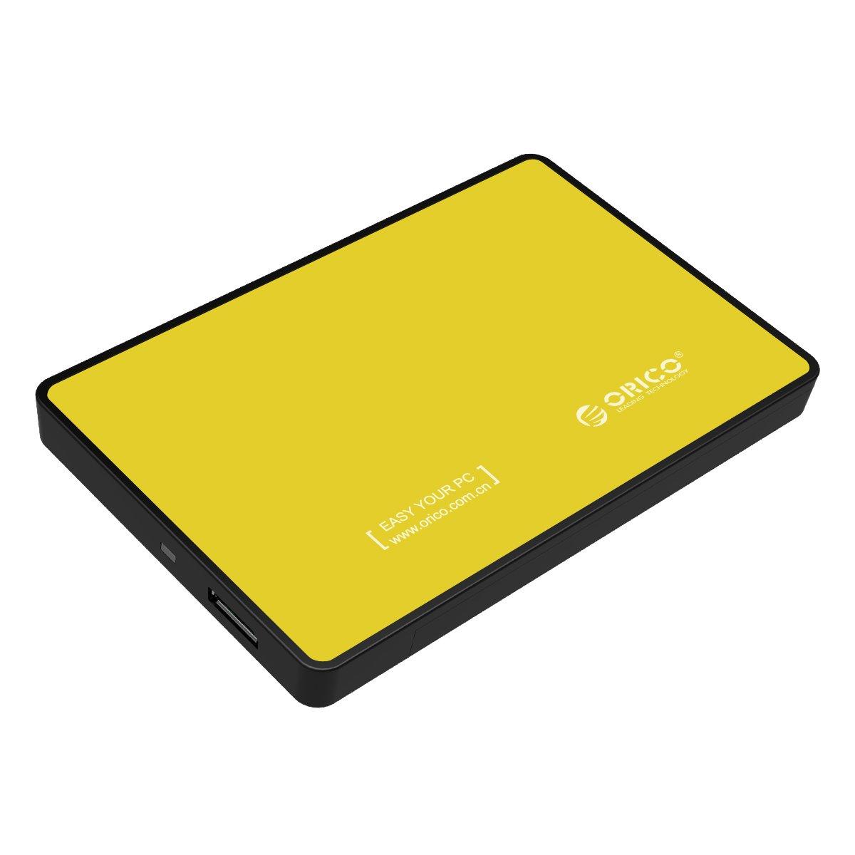 ORICO 2.5 Zoll USB 3.0 festplatten Geh/äuse f/ür 9.5mm /& 7mm 2.5 Zoll SATA SSD HDD mit USB3.0 Kabel Werkzeuglose HDD Installation-Orange