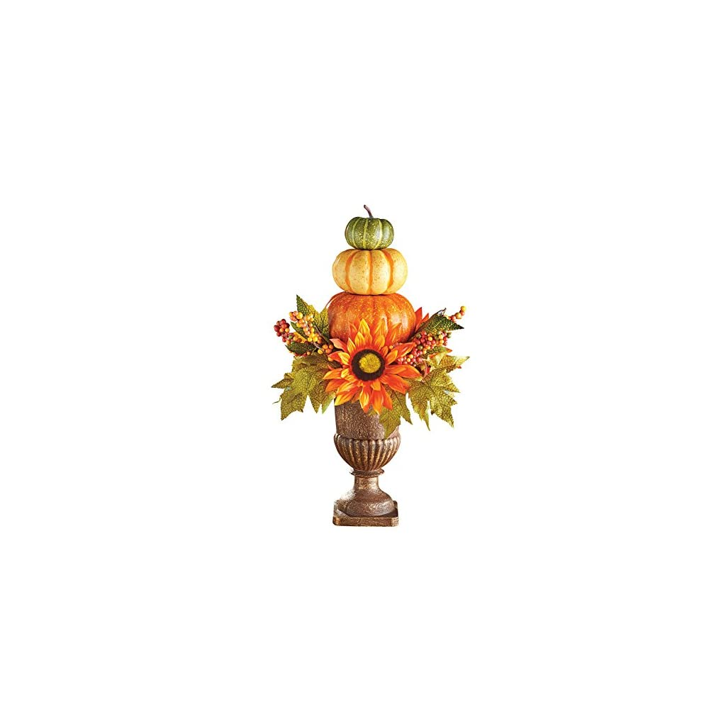 Collections-Etc-Harvest-Pumpkin-Topiary-Fall-Tabletop-Dcor-Indoor-Home-Accents-Mantelpiece