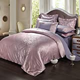 4pc cover set,European Satin Jacquard Four pieces set Quilt cover Sheet bedclothes Bedding kit-D 78.778.7inch(200200cm)