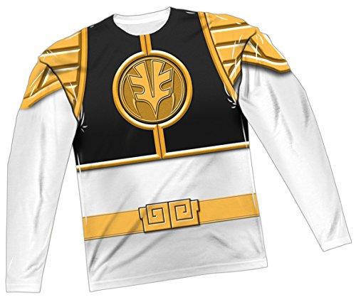 White Ranger Costume -- Power Rangers All-Over Long-Sleev...