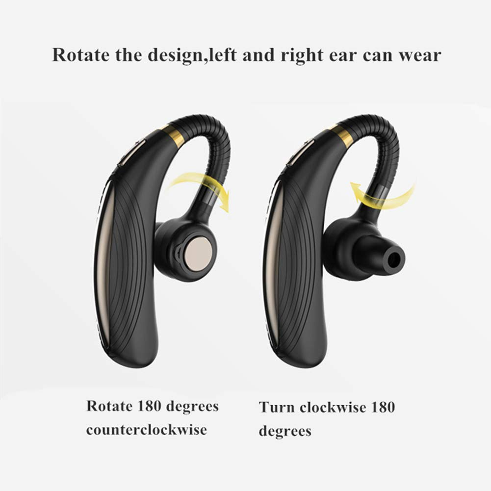 Business Bluetooth Headset Office Compatible iPhone Android Cell Phones Driving AMTERBEST Wireless Bluetooth Earpiece Hands-Free Earphones with Stereo Noise Canceling Mic,28 Hrs Play time