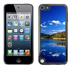 TopCaseStore / la caja del caucho duro de la cubierta de protección de la piel - Nature Great Lake - Apple iPod Touch 5