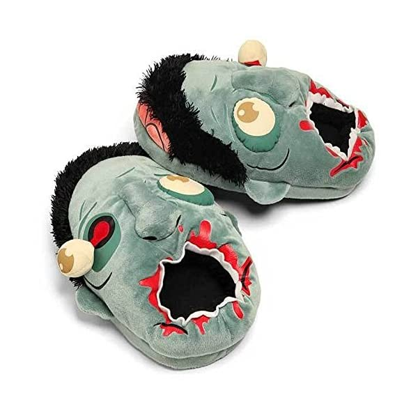 Thinkgeek Zombie Plush Slippers One Size Fits Most
