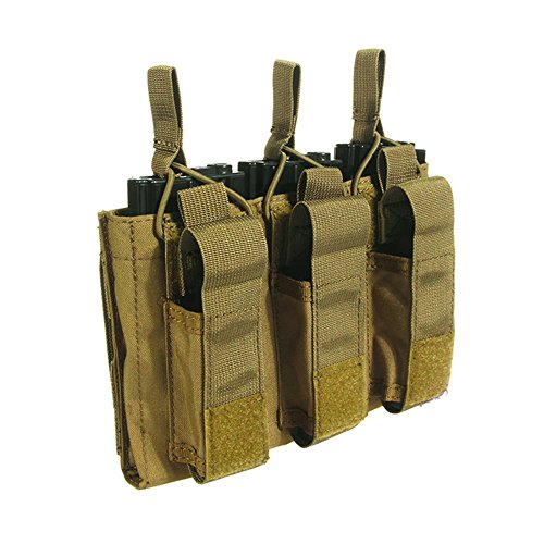 Loglife Tactical Triple Magazine Pouch (Hold 6 Mags) Mag Pouch Bag Holster Black CB Multicam (CB)