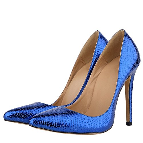Damesmode Stilettohakken Stiletto-dames Pumps Blauw Blauw-1e