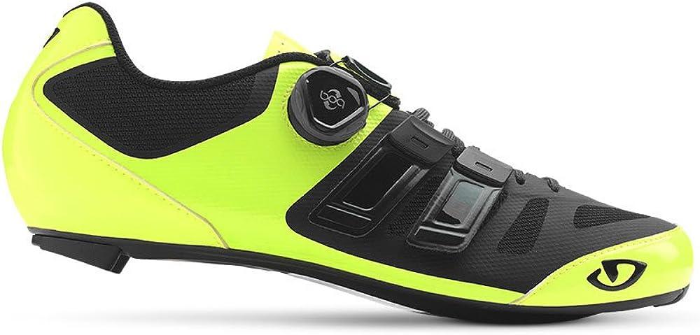 Giro Herren Sentrie Techlace Road Radsportschuhe - Rennrad, Schwarz Mehrfarbig Highlight Yellow Bla 000