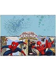Procos 85155 - tafelkleed Ultimate Spiderman Web Warriors, afmeting 120 x 180 cm, feestdecoratie, kinderverjaardag