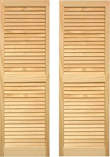LTL Home Products SHL51 Exterior Window Louvered Shutters, 15 x 51 by LTL Home Products