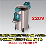 Commercial Kitchen Equipment Potato Peeler High Capacity 500 kg / h Automatic Sweet Potato Peeling & Cleaning Machine 1.1 KW , 220 Volt