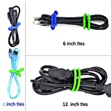 9 Pcs/set Original Silicone Cable Tie, Steel-Core