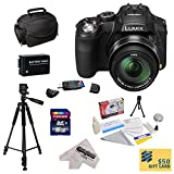 Panasonic Lumix DMC-FZ200 Digital Camera with 3-Inch LCD With Must Have Accessory Kit Includes 32GB High-Speed SDHC Card + Card Reader + Extended Life Battery + Rapid Charger + Deluxe Carrying Case + Professional 60'' Tripod + Lens Cleaning Kit including L
