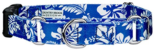 Country Brook Petz | Royal Blue Hawaiian Martingale with Deluxe Buckle - Medium