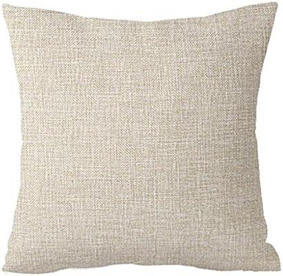Amazon.com: sothread almohada cuadrada para cojín sofá suave ...