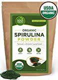 Organic Spirulina Powder Pure and Raw - Purest Green Vegan Superfood, Supports Vitality and Glowing Skin, Hair and Face - USDA Organic Certified for Women and Men - Great in Smoothie, juice or protein