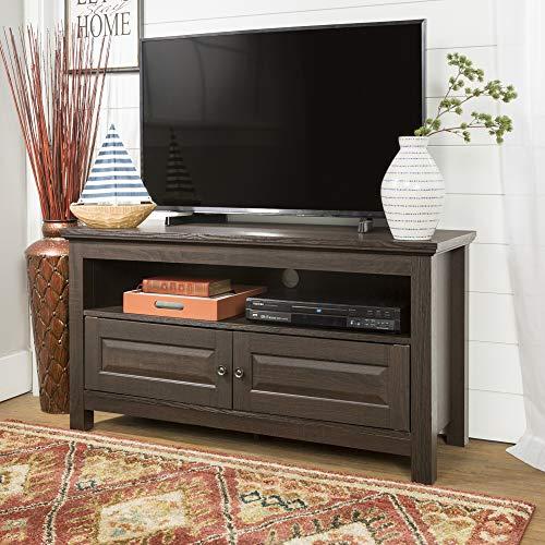 Walker Edison 44 inches Cortez TV Stand Console, Espresso (Espresso Tv Stand)