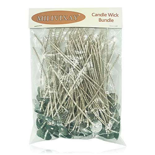 100pcs/lot Organic Hemp Candle Wick Votive Candle Wicks- Coated with Natural Beeswax, Low Smoke - Cotton Wicks for Candle Making - Candle Making Supplies(3.5 Inch)