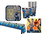 Zootopia Deluxe Party Supply Pack for 16 Guests featuring Judy and Nick!
