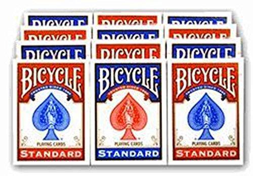 - 12 Decks Bicycle 808 Rider Back Poker Playing Cards (JUMBO INDEX)