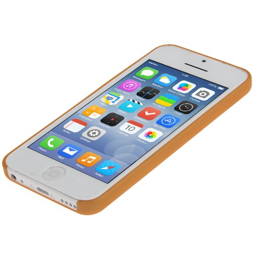 """iPhone 5C Premium Hülle / Case / Cover in orange aus robustem Polycarbonat im """"Ultra-Slim-Style"""" -Original nur von THESMARTGUARD-"""
