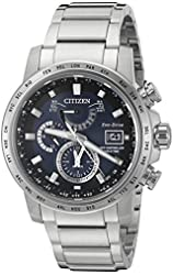 Citizen Eco-Drive Men's 'World Time A-T' Quartz Stainless Steel Casual Watch, Color: Silver-Toned (Model: AT9070-51L)
