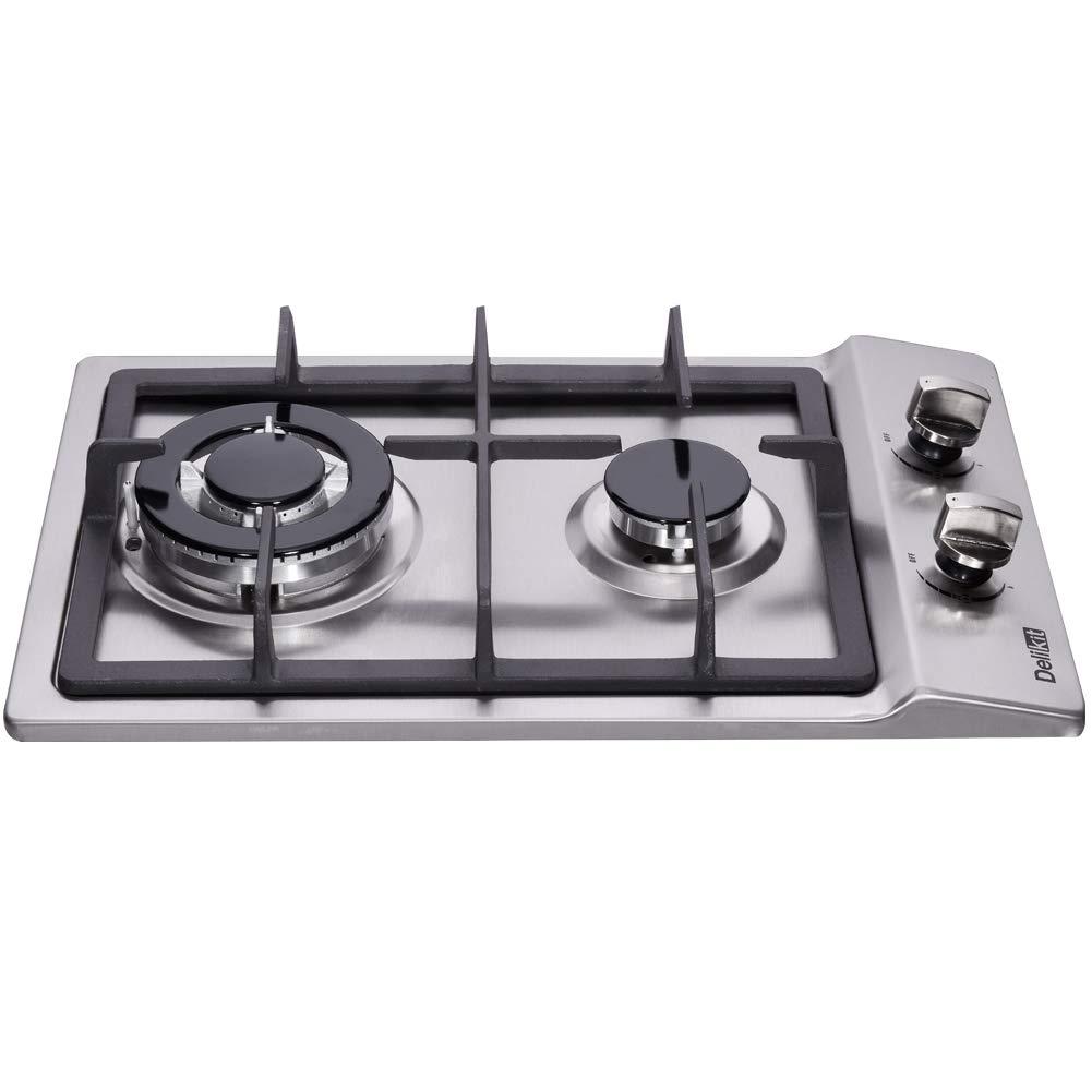 Amazon.com: cocina gas 2 quemadores: Aparatos
