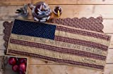 Patriotic Patch Blessed Nation Table Runner 13x36