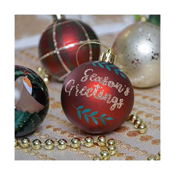 Valery Madelyn Palle di Natale 30 Pezzi 6cm Palline di Natale, Strada di Campagna Rosso Verde e Oro Infrangibile Ornamenti Palla di Natale Decorazione per la Decorazione Dell'Albero di Natale 5 spesavip