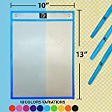 22 Pack Clear Reusable Dry Erase Pockets 10x13