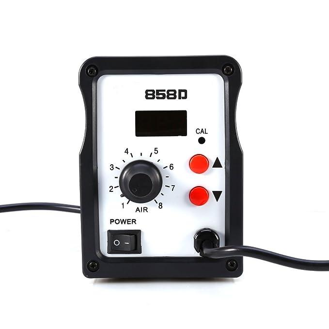 Yosoo 858D SMD LED Digital Estación de Desoldadura y Soldadura, 220V Estación de Reanudación de Aire Caliente, Pistola de Aire Caliente para PCB de ...