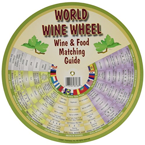 World Wine Wheel - Franmara 6136-BU The World of Wine Wheel & Food Matching Guide