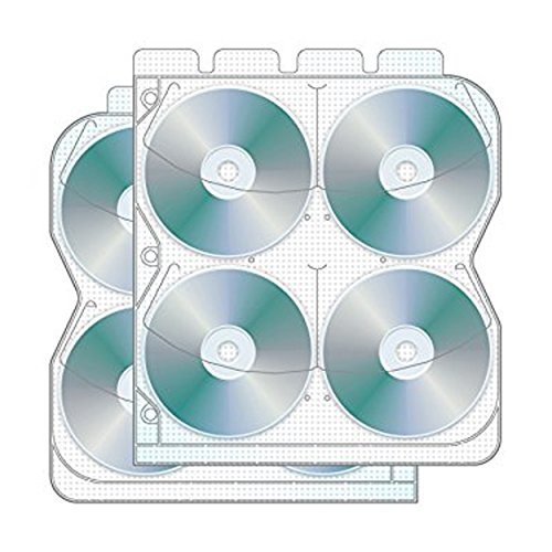 - 8 Disc CD/DVD Binder Page with Safety-sleeve - Pack of 50