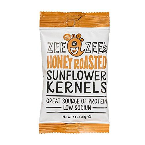 Zee Zees Sunflower Kernels, Honey Roasted, 1.1 oz, 48 pack