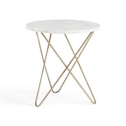 Amazon Com Qyszyg Marble Coffee Table Simple Modern Round Creative