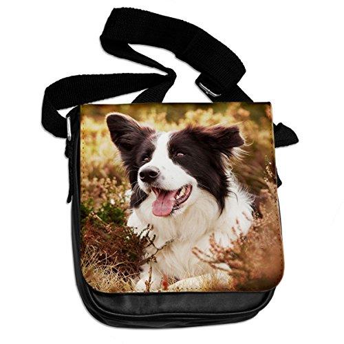 Border Collie cane animali borsa a tracolla 044