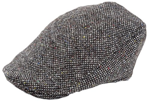 - Hanna Hats Men's Donegal Tweed Donegal Touring Cap Gray Salt & Pepper 2XL