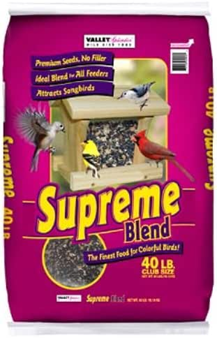 Vally Splendor Supreme Blend Bird Feed, 40-Pound