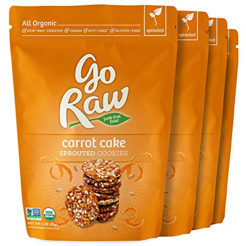 - Go Raw Carrot Cake Cookies, 4 Pack, OLDER VERSION