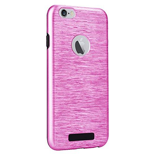 """MOONCASE iPhone 6s Hülle Brushed Dual Layer Hard PC +TPU Fallschutz Anti-Scratch Case Tasche Schutzhülle für iPhone 6 / 6s 4.7"""" Rosa"""