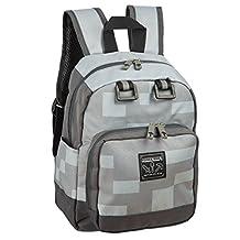 "JINX Minecraft 12"" Miner Kids Mini Backpack, Grey, One Size"