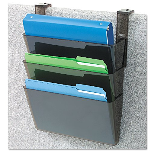 DEFLECT-O Plastic Letter Size 13 x 4 x 7 Inches DocuPocket Three-Pocket Partition Set, Black (DEF73504) -