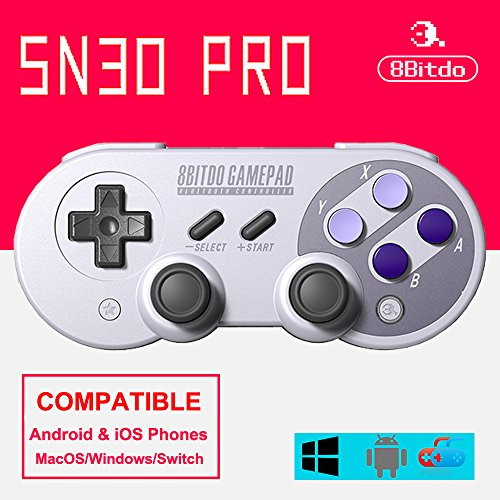 8Bitdo SN30 PRO Bluetooth GamePad Controller for Android/ Windows/Mac OS/ Nintendo Switch (SN30 PRO)