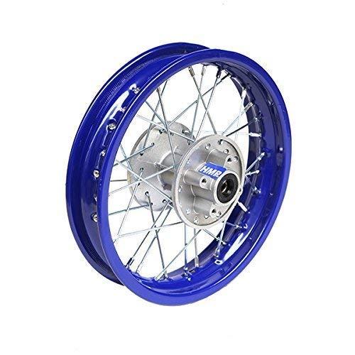 HMParts Pit/Dirt Bike/Cross 1 x de acero Llanta 1.85 X 12 pulgadas –  trasera –  Azul