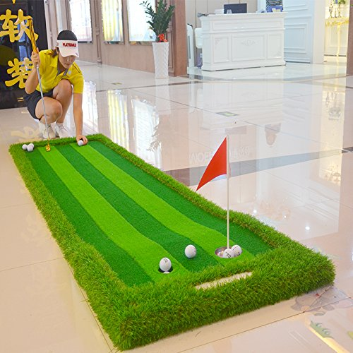 FUNGREEN 75X300CM Golf Putting Green System Professional Practice Indoor/outdoor Backyard Golf Training Mat Aid Equipment with 3 Colors Grass by FUNGREEN (Image #5)