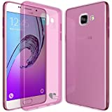 Samsung Galaxy A5(2016) case,Love Ying [Crystal Clear] Ultra[Slim Thin][Anti-Scratches]Flexible TPU Gel Rubber Soft Skin Silicone Protective Case Cover for Samsung Galaxy A5(2016)-Pink