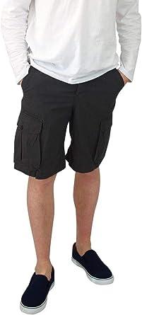 Ex H M Pantalones Cortos De Carga Para Hombre Algodon Grueso Talla Mediana Negro Negro 32 Amazon Es Ropa Y Accesorios
