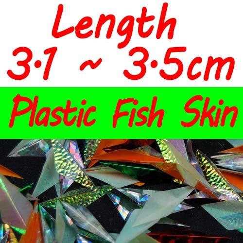 Plastic skin size 4 280pcs bag Pre Cut Flash Sabiki Fish Skin Plastic Sabiki Wings Shinning color Mixed for Bait Rig Making  (color  Real Skin Size 6)